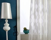 "A Pair of White Cotton Blend Sheer Curtains Made to Order Upto 104""L."