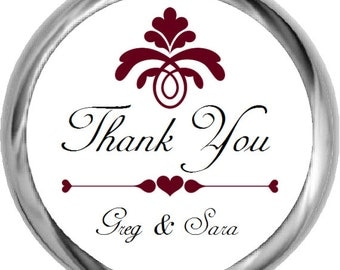 Personalized Thank You Wedding Stickers - Personalized Wedding Favor Stickers, Labels, Gift Tags, etc.
