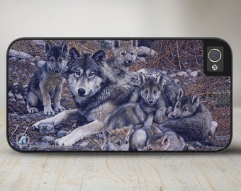 "Wolves iPhone 5 Case, Wolves iPhone 5s Case, Wolves iPhone Case Protective Wolf Phone Case ""Den Mother"" 50-3101"