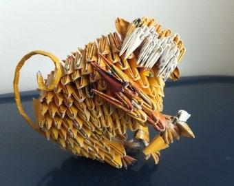 Triangle Paper Origami:Monkey