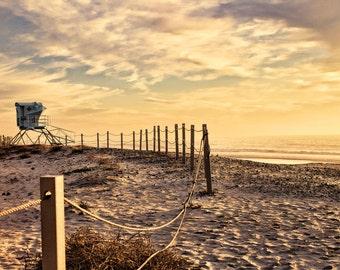 Tower 20, Lifeguard Tower, Sunset, South Ponto Beach, Carlsbad, California