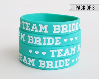 Bachelorette Party Favors - Bachelorette Party Bracelet - Teal - Pack of 3