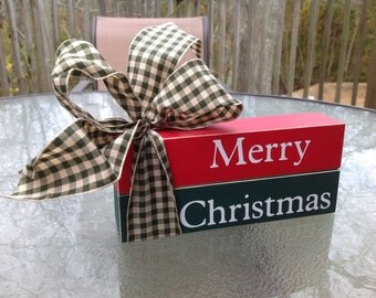 Merry Christmas. Shelf Sitter. Wood Decor. Christmas Decor.