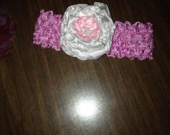 Handmade baby headband nb to 3 months