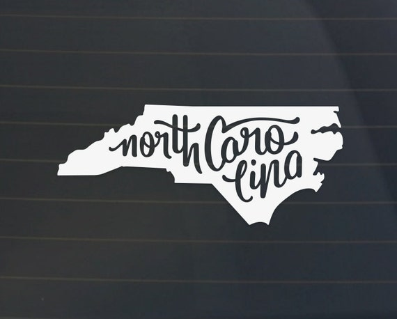 North Carolina Car Decal North Carolina Decal North