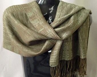 Handwoven Alpaca/Wool/Tencel Shawl/Scarf