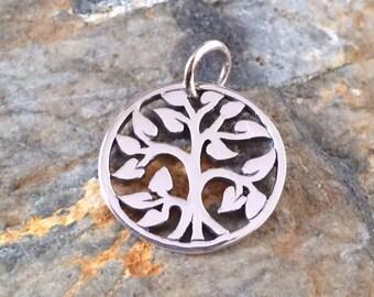 Tree of Life Pendant, Tree of Life Charm, Sterling Silver Tree of Life, Family Tree Pendant, Family Tree Charm, Small, PS0192
