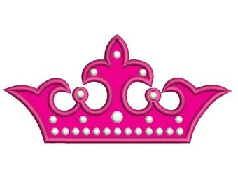 Crown Applique Machine Embroidery Digitized Design Pattern - Instant Download - 4x4 , 5x7, 6x10