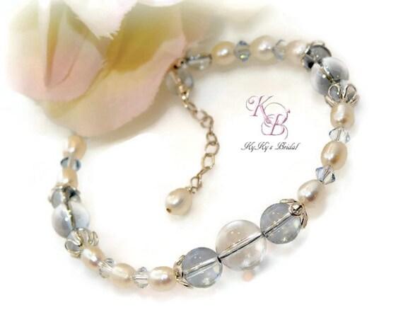 Bridal Bracelet Bridal Jewelry Prom Jewelry Something Blue