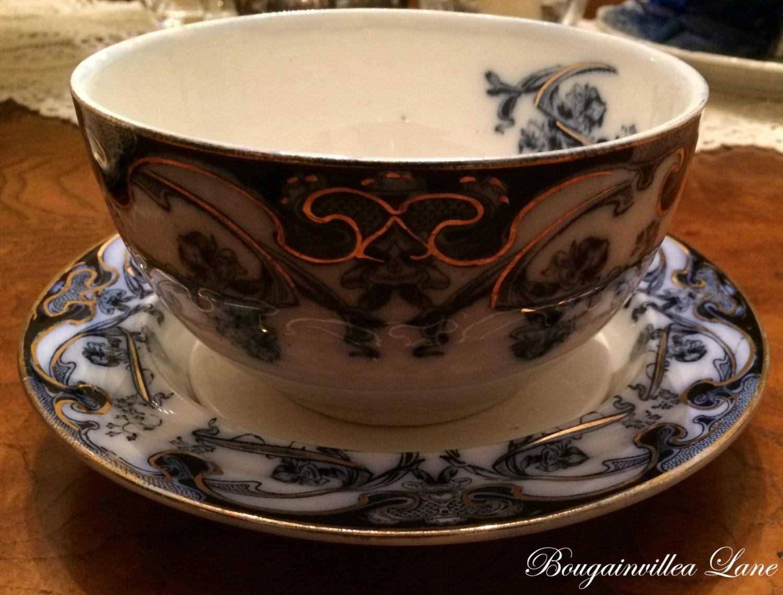 Royal Staffordshire Pottery Burslem England Iris Pattern