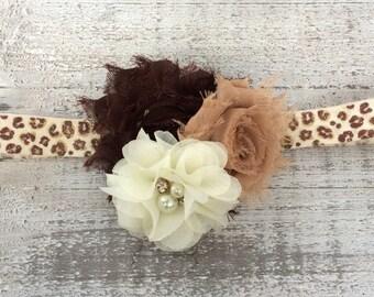 Cheetah Headband.  Baby Cheetah Headband.