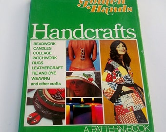 GOLDEN HANDS HANDCRAFTS Vintage Craft Book