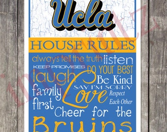 UCLA Bruins House Rules Art Print