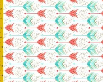 Crib Sheet - Aqua and Coral Arrows