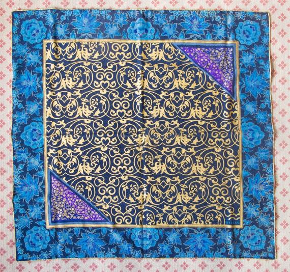 vakko printed silk scarf in original box from