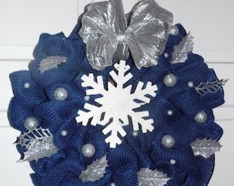Winter Wreath, Snowflake Wreath