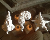 Ceramic bisque Santa clause ornament 3 nautical santa's ready to paint