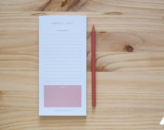 Pink Notepad Keep it s_mple
