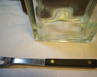 Vintage EKCO Flint Arrowhead Wood Handled Serving Fork in Stainless Steel