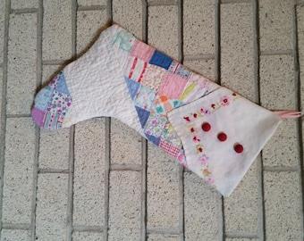 Vintage Quilt Stocking