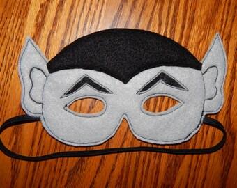 Dracula Vampire Felt Mask Costume - Any Size Avaliable
