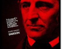 Ralph Waldo Emerson Original Art Print - 12x8 Inch Photo Poster Gift - Self Reliance