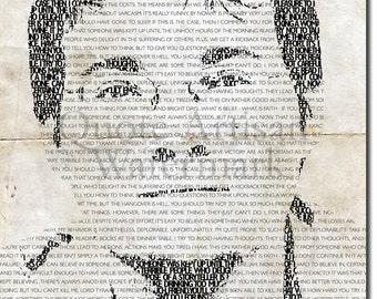 BRANDON SANDERSON Beautiful Typographic Poster