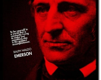 Ralph Waldo Emerson Original Art Print - 12x8 Inch Photo Poster Gift - Self Reliance