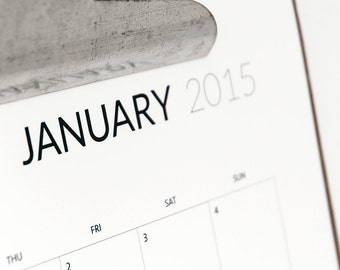 2015 printable monthly calendar