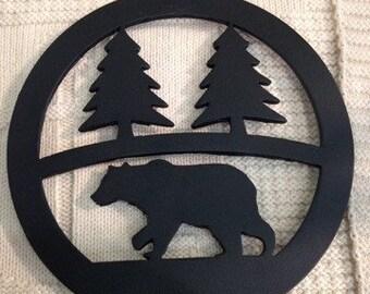 Bear Themed Steel Trivet