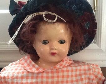 Very old Effanbee doll with cloths,hat,shoes ,
