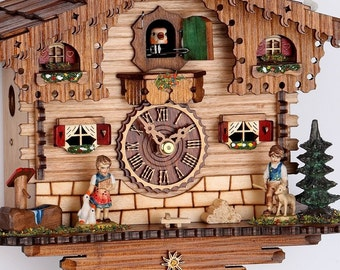 Original Black Forest Cuckoo Clock mechanically, 1 day movement with night off