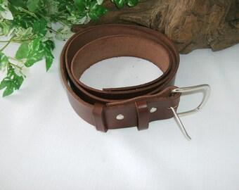 Leather Bushcraft Belt totally handmade