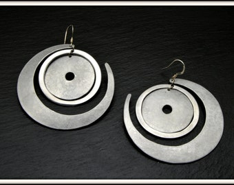 Hoop aluminum earrings
