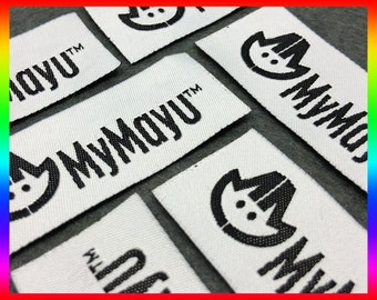 100 Custom clothing label, Woven label for Text Only Clothing Labels