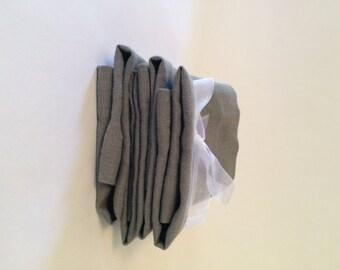 Linen Gray Dinner Napkins Set of 4, gift for mom, gift for her, gift for teacher, gift for him