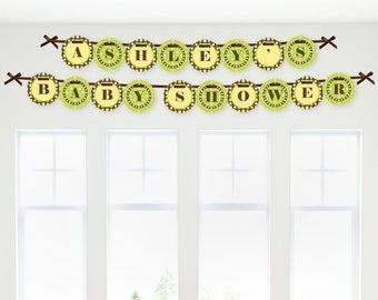 Monkey Garland Banner - Custom Party Decorations