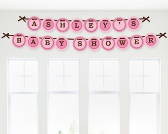 Girl Baby Carriage Banner - Custom Party Decorations