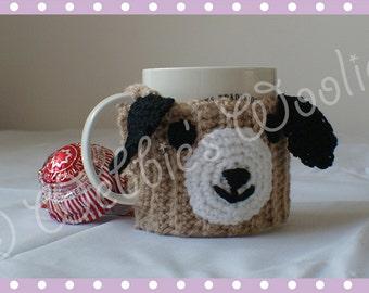 Adorable Grey/black/brown Puppy Dog Mug Hug Cup Cosy Cozy by Liz