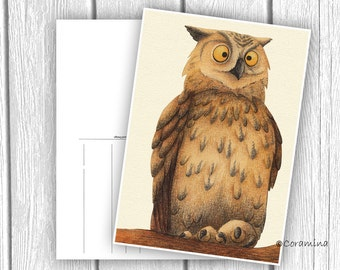 Postkarte eule limitier te edition