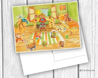 "Postcard ""Kinderzimmer"" limited edition"