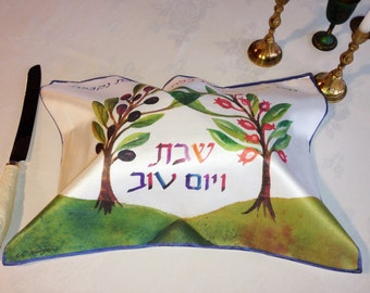 Challah Cover with trees forming wedding canopy (chuppah)