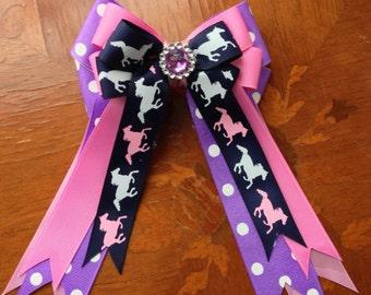 Horse Show Bows 4 Pony Kids, Beautiful sparkle gem