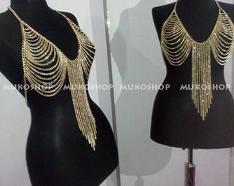 gold body chain, best sellers , most popular item , lux bodychain , ultra bodychain
