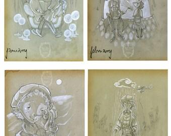 Original Illustrations - 'Encounters'