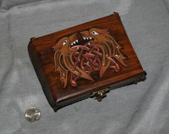 Celtic Lion Leather Box