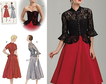Simplicity Sewing Pattern 1250 Misses' Vintage 1950's One Piece Dress and Jacket