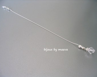 Pendant back wedding jewelry for bridal pearl crystal transparent