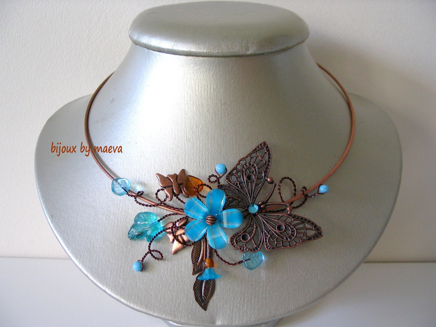 Costume jewelry turquoise necklace turquoise and brown for Turquoise colored fashion jewelry