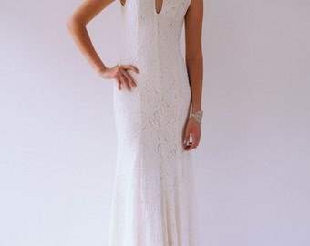 High neck lace gown - SAMPLE SALE